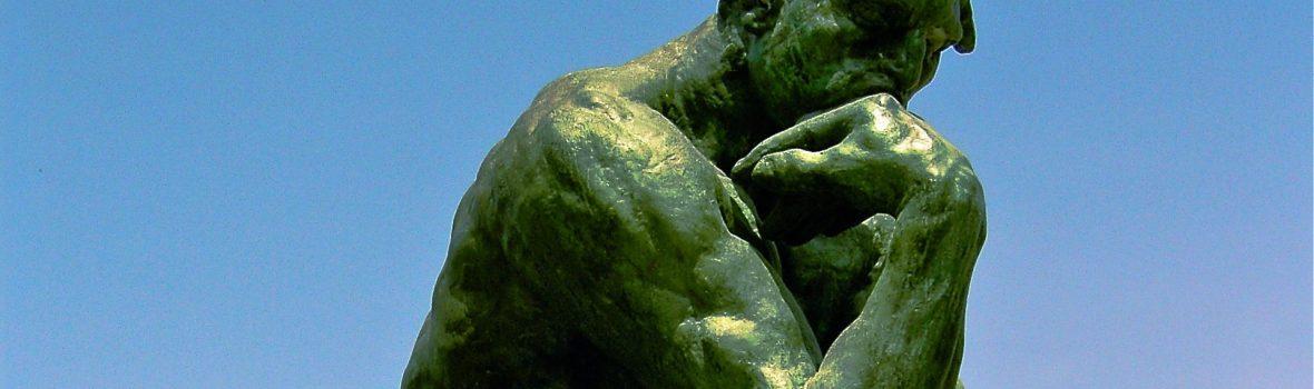 Statue of someone thinking